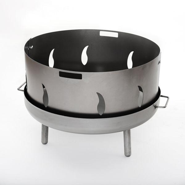 Edelstahl Funkenschutz Flamme für alle Feuerschalen 80 cm